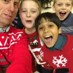 It was Christmas jumper night at Scouts