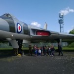 Wolves and Bears visit Air Museum