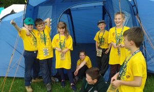 Our Cubboree Cubs having just checked-in