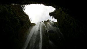 The secret waterfall,Gljúfurárbui